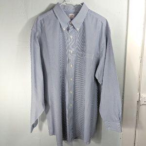 Brooks Brothers Men's 18-4/5 Pinstripe Blue Shirt